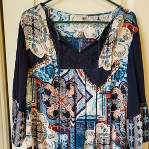 Cute Cato Blouse with 3/4 Sleeves